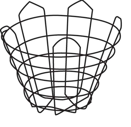 "34"" Cone Wire Basket"