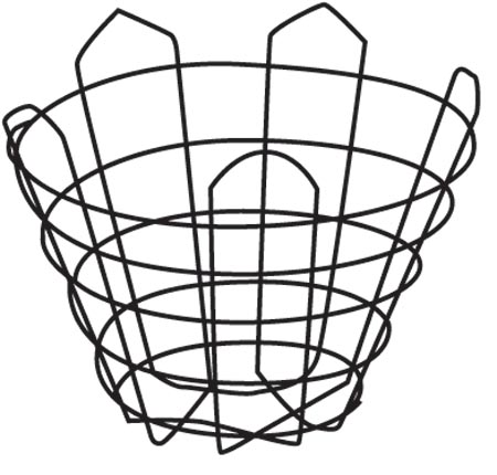 "36"" Tight Cone Wire Basket"